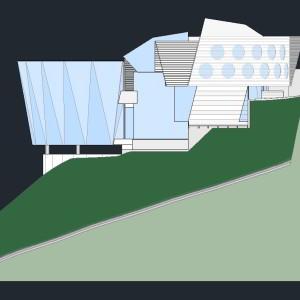 Casa Diamante - Elevação lateral
