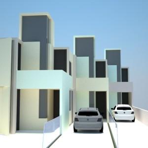 Projeto Casa Geminada 02 - Vista 01