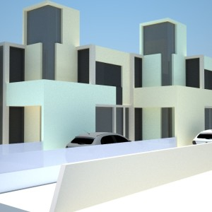 Projeto Casa Geminada 02 - Vista 02