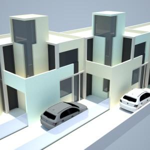 Projeto Casa Geminada 02 - Vista 03