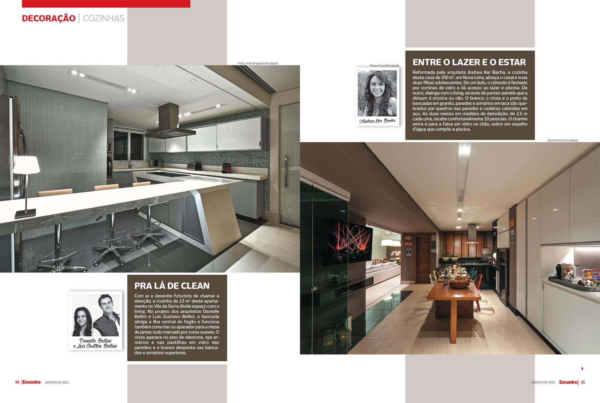 Cozinha Pequena Com Desenho Fututista Destaque Na Revista Encontro
